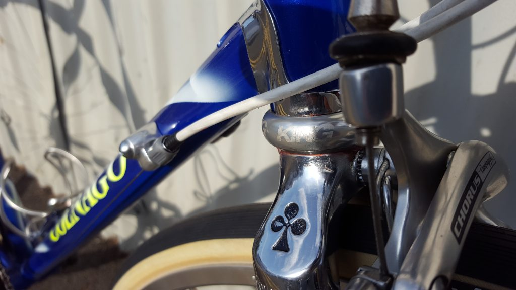 Blue Clnago Tecnos with Chris King and Campagnolo